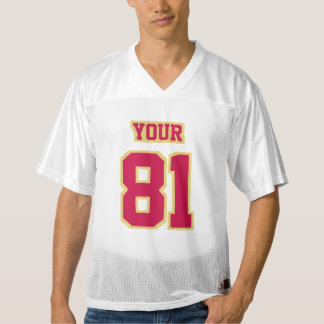 Front CRIMSON RED OLD GOLD WHITE Mens Sport Jersey