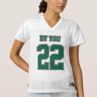 Front DARK GREEN GREY WHITE Womens Sports Jersey