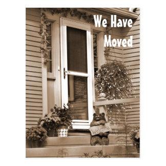 Front Door Change of Address Cards Postcard
