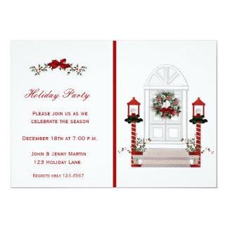 Front Door Holiday Invitation