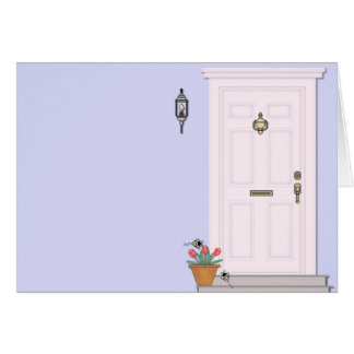 Front Door House Home Blank Greeting Card