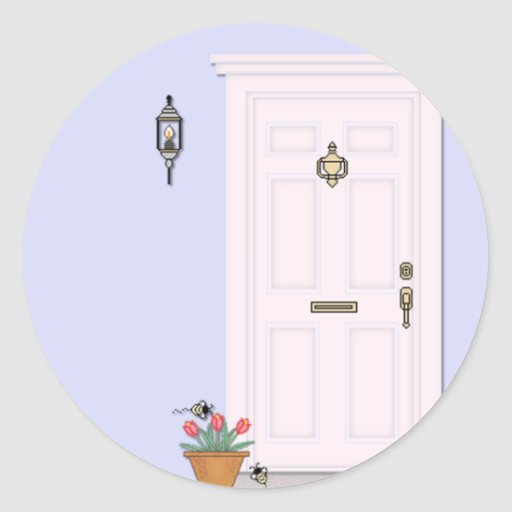 Front Door Stickers Zazzle