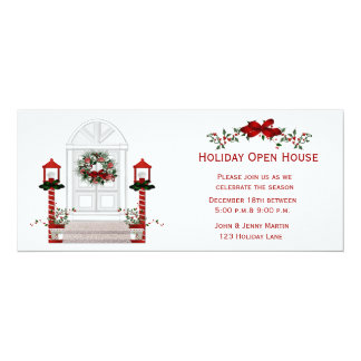 Front Door Welcome Holiday Invitation