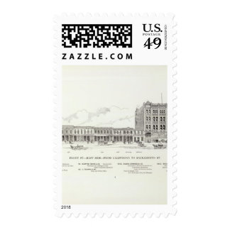 Front East side California and Sacramento Postage Stamps