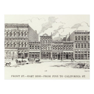 Front East side Pine and California Postcard