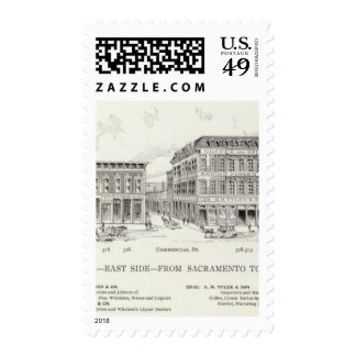 Front East side Sacramento and Clay Postage Stamp