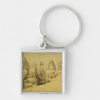 Front Elevation of the Great Temple of Aboo Simbel Keychain