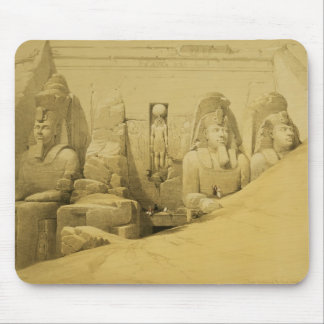 Front Elevation of the Great Temple of Aboo Simbel Mouse Pad
