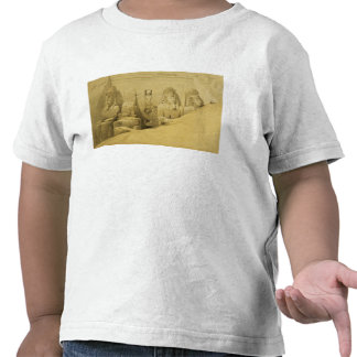 Front Elevation of the Great Temple of Aboo Simbel Tee Shirt