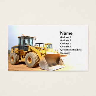 front end loader business card
