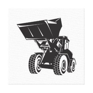 Front End Loader Digger Excavator Retro Canvas Print