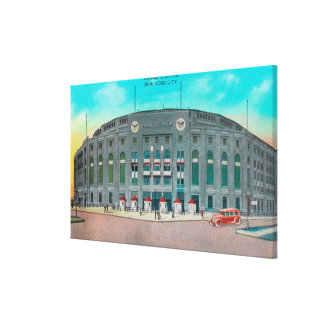 Front Entrance to Yankee Stadium View Canvas Print