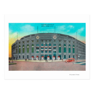 Front Entrance to Yankee Stadium View Post Cards