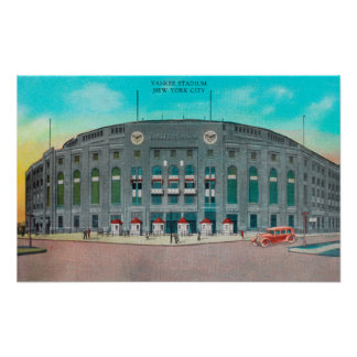 Front Entrance to Yankee Stadium View Poster