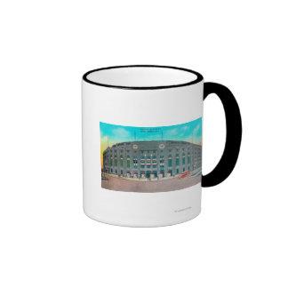 Front Entrance to Yankee Stadium View Ringer Coffee Mug