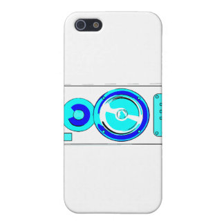 Front Facing Blue and White Single Speaker Graphic Cover For iPhone 5/5S
