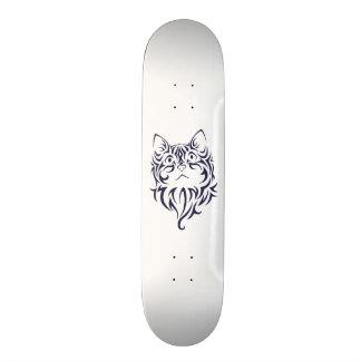 Front Facing Cat Kitten Face Stencil Skateboard Deck