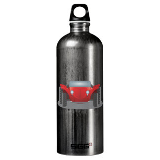 Front-Facing Red and Black Dune Buggy Aluminum Water Bottle