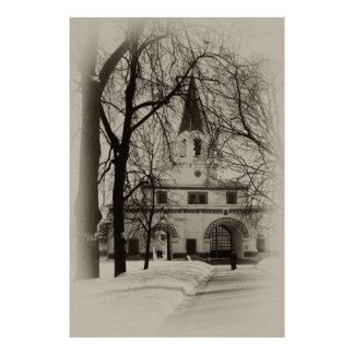Front Gate of Moscow estate museum-reserve Kolomen Print