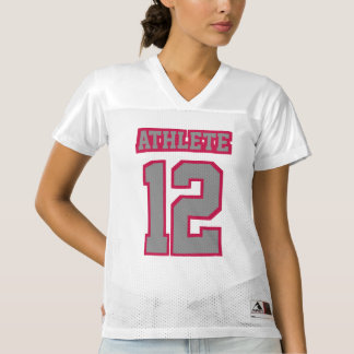 Front GREY CRIMSON RED WHITE Womens Sport Jersey