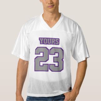 Front GREY PURPLE WHITE Men Football Jersey