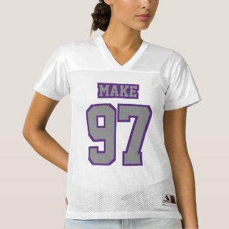 Front GREY PURPLE WHITE Womens Sport Jersey