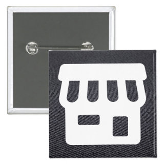 Front Houses Symbol 2 Inch Square Button