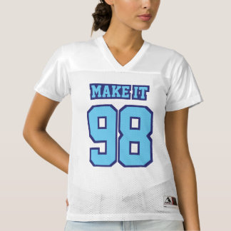 Front LIGHT BLUE NAVY WHITE Womens Sports Jersey