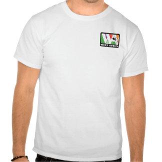 Front: little logo, Back: our prayer card & verse Shirt