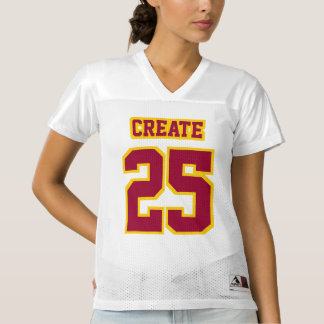 Front MAROON GOLDEN YELLOW WHITE Womens Jersey