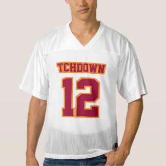 Front MAROON ORANGE WHITE Mens Football Jersey