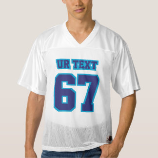 Front NAVY BLUE WHITE Mens Football Jersey