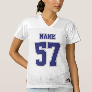 Front NAVY SILVER GRAY WHITE Womens Sports Jersey