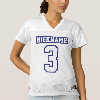 Front NAVY WHITE Womens Sports Jersey