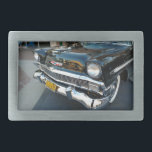"""Front of a Classic 1956 Chevy Bel Air Hot Rod Rectangular Belt Buckle<br><div class=""""desc"""">Photo taken by Yours Truly.</div>"""