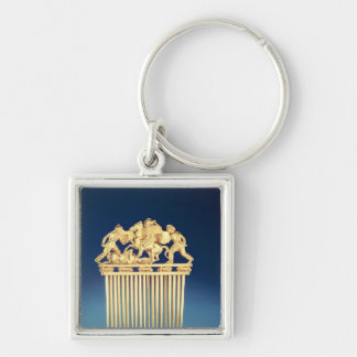 Front of a Scythian comb Silver-Colored Square Keychain
