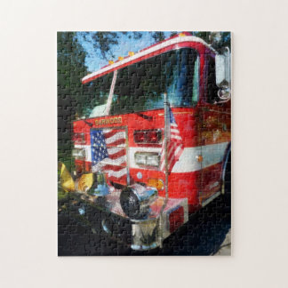 Front of Fire Engine Jigsaw Puzzle