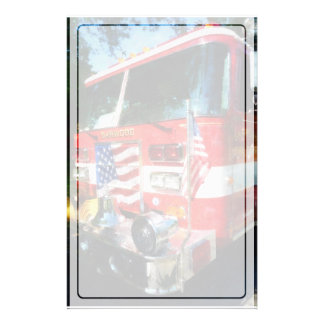 Front of Fire Engine Customized Stationery
