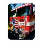 Front of Fire Engine Vinyl Magnet