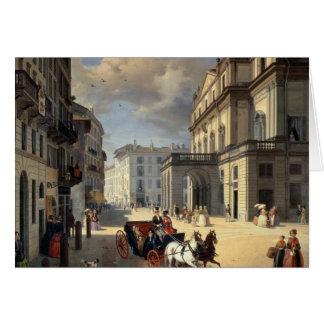 Front of La Scala Theatre, 1852 Card