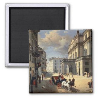 Front of La Scala Theatre, 1852 Magnet