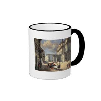 Front of La Scala Theatre, 1852 Ringer Coffee Mug