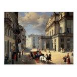 Front of La Scala Theatre, 1852 Postcard