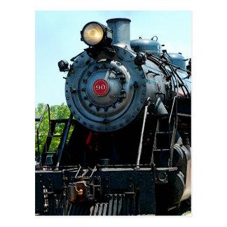 Front of Steam Locomotive Postcard