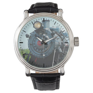 Front of Steam Locomotive Wrist Watch