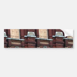Front Of Store Created With Red Bricks Car Bumper Sticker