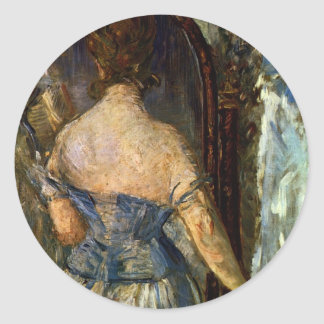 Front of the mirror - Edouard Manet Classic Round Sticker