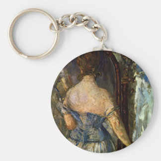 Front of the mirror - Edouard Manet Keychain
