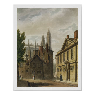 Front of Trinity Hall, Cambridge, from 'The Histor Poster