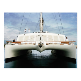 Front On Catamaran Postcard